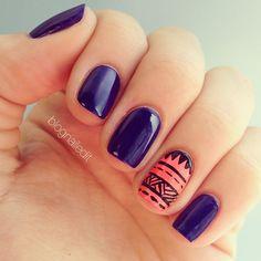 I love the Boho styled nails!