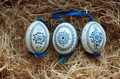 Beautiful and unique to the Moravian region, these traditional, hand crafted, one of a kind, heirloom hens eggs are beautiful hanging from blossom branches, pussy willows, or in a pretty bowl or dish for your holiday centerpiece.  A wonderful gift for Easter, weddings, baby showers, or for the discerning collector.  Eggs are naturally purified and whitened, then hand drawn with ink.  Finished with an archival grade UV resistant glaze to ensure integrity of color and strengthen the egg. We…