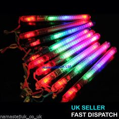 Party-Bag-Fillers-LED-Glow-Stick-Rainbow-Flashing-Blinking-Light-UP-Wands-Strobe
