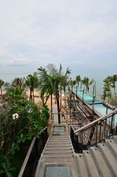 I remember walking down those stairs to the beach, and I'll be doing it again. @Cape Dara Resort Pattaya