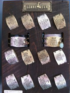 Choose your Quote, mix and match Cuffs with Sentiments. Lenny and Eva at B.loved Boutique. www.blovedfashions.com