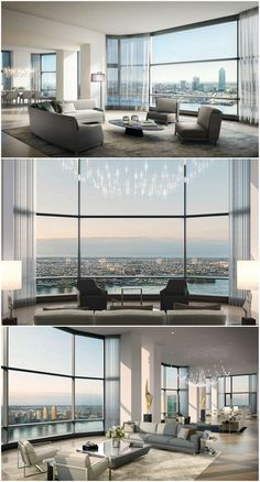 Here is a selection of the most Luxury Penthouses in the world! Futuristic design to inspire everyone! dream house luxury home house rooms bedroom furniture home bathroom home modern homes interior penthouse New York Penthouse, Luxury Penthouse, Luxury Condo, Luxury Homes, Penthouse Apartment, Luxury Cars, Appartement New York, Appartement Design, Architecture Restaurant