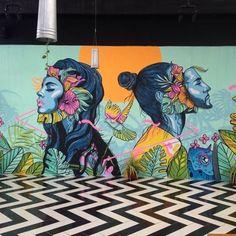 """People Connection"" a peaceful mural by – Graffiti World Murals Street Art, Graffiti Art, Mural Painting, Mural Art, Wall Mural, Kunst Inspo, Art Inspo, Psychedelic Art, Art On Wall"