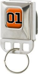 Orange 01 Keychain Holder Seatbelt Style