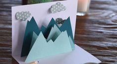 Cartes de Noel à faire soi-même, une carte de Noël pop-up, Cette étonnante carte à faire soi-même s'ouvre sur un paysage de montagne et prend du volume en un clin d'œil. Succès garanti.