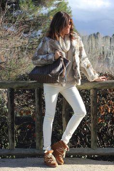 Boho Chic, Boho Style, Moda Boho, Boho Fashion, Skiing, Casual, White Jeans, Madrid, Winter Outfits