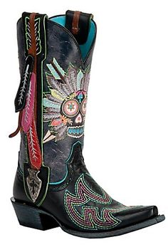 Ariat Gypsy Soule Ladies Black Indian Sugar Soule Snip Toe Cowboy Boots