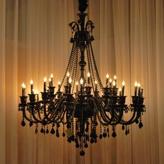 New Large Foyer / Entryway Jet Black Gothic Crystal Chandelier Lighting 30 Lights – - All About Decoration Chandelier Bougie, Foyer Chandelier, Crystal Chandelier Lighting, Black Chandelier, Gothic Chandelier, Chandelier Shades, Chandelier Ideas, Outdoor Chandelier, Foyer Lighting