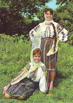 Romanian people National folk clothing (part Romanian Men, Romanian People, Folk Embroidery, Learn Embroidery, Folk Costume, Costumes, European People, Folk Clothing, Most Beautiful Dresses