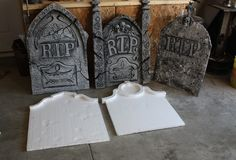 If you ever went into a Halloween store to buy some head stones, you were probably shocked to see a $20 plus price tag for each! Well, you can make ...