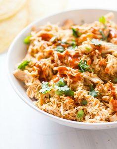 4-Ingredient Crockpot Chicken Tacos Recipe