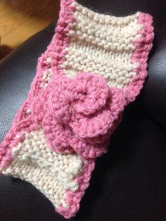 HeAdband with a big rose crochet