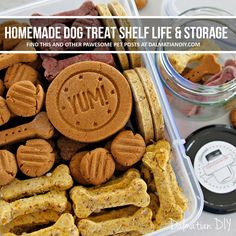 Shelf-Life and Storage for Baked Dog Treats Soft Dog Treats, Puppy Treats, Diy Dog Treats, Gourmet Dog Treats, Homemade Dog Treats, Healthy Dog Treats, Dog Biscuit Recipes, Dog Food Recipes, Easy Dog Treat Recipes