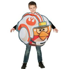 Your kid will love defending the Republic from the dark forces of Lard Vader in this Star Wars Angry Birds X-Wing Fighter Luke Skywalker Kids Costume! Only $37.99.