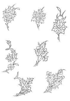 Ç Tambour Embroidery, Hand Embroidery Patterns, Islamic Art Pattern, Pattern Art, Mother Art, Persian Motifs, Turkish Art, Amazing Drawings, Animal Fashion