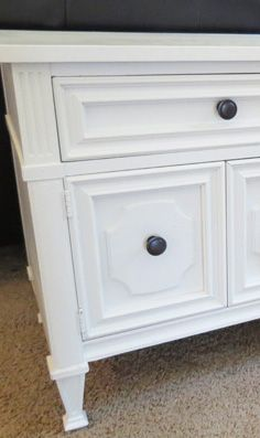 Nightstand makeover - before & after pix.  Lots of other furniture redos here too.