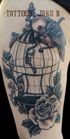 47 delightful bird cage tattoos that will absolutely make your day. Black Bedroom Furniture Sets. Home Design Ideas