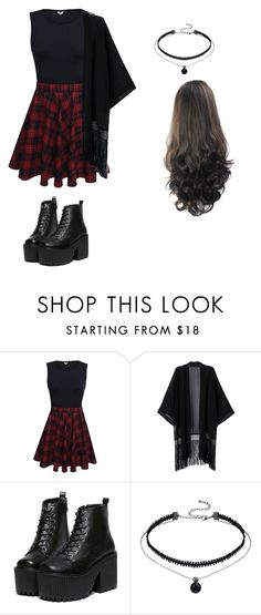 """""""Goth"""" by alexa-borcea on Polyvore featuring casual, black, rock and grunge"""
