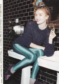 1883 magazine featured the #AmericanApparel Disco Pant in Deep Peacock, Winter'12.