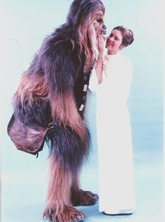 Leia and Chewie