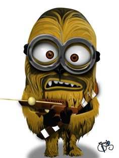 Chewbacca Minion Star wars despicable me Amor Minions, Cute Minions, Minions Despicable Me, Minions Quotes, Minion Stuff, Minion Humor, Chewbacca, Minion Characters, Funny Minion Pictures