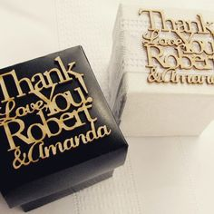 Personalised message on a box for your guest favors!