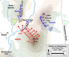 Gettysburg Map, Gettysburg Battlefield, American Civil War, American History, James Longstreet, Confederate States Of America, Union Army, Us History, American Revolution