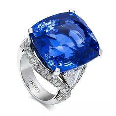 repost from @orlovjewelry #orlovjewelry natural cushion shape #blue #sapphire…
