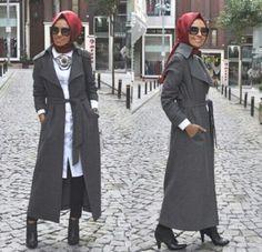 belted cardigan hijab style, Hulya Aslan hijab fashion looks http://www.justtrendygirls.com/hulya-aslan-hijab-fashion-looks/