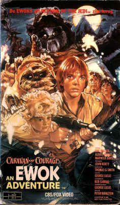Movie Poster Scraps VI: The Ewok Adventure (TV Movie (The Ewok Adventure; Star Wars: Ewok Adventures - Caravan of Courage; Caravan of Courage: An Ewok Adventure; Star Wars Film, Star Wars Poster, Star Wars Art, Ewok, Animal Heros, Cinema Tv, Kino Film, Adventure Film, Original Movie Posters