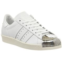 Adidas Superstar 80's Metal Toe W (€120) ❤ liked on Polyvore featuring shoes