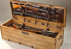 Ostrich Camel Back Gun Trunk Hidden Gun Storage, Weapon Storage, Secret Storage, Custom Wood Furniture, Gun Rooms, Gun Cases, Guns And Ammo, Wooden Boxes, Wooden Crates