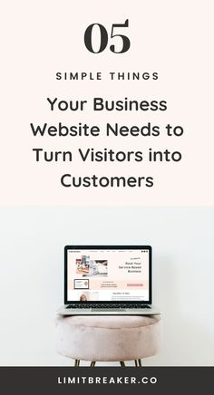 Help turn your business website visitors into customers with these 5 vital tips. With no need for a designer or developer. #businesstips #websitetips #marketing #onlinemarketing #onlinebusiness #sales #clients #virtualassistant #freelancetips #getmoreclients