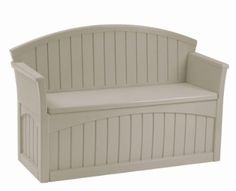 """Outdoor Patio Bench with Interior Storage Compartment (about 47""""x17""""x16"""")"""