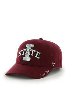 47 Iowa State Cyclones Red Sparkle Clean Up Adjustable Hat Iowa State  Cyclones 6119612a1983