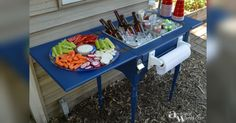 Furniture Upcycle: Sewing Machine Table Into A Bar Cart