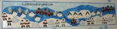 Fresque collective sur le thème de l'hiver Winter Kids, Winter Art, Winter Theme, Le Morse, Arctic Animals, Winter Wonderland, Penguins, Christmas Crafts, Kindergarten