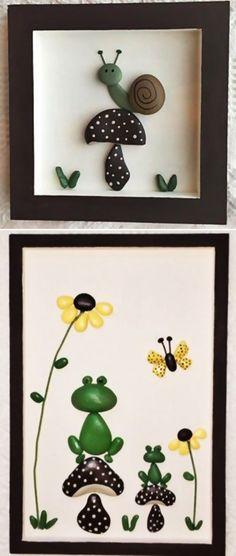 MENTŐÖTLET - kreáció, újrahasznosítás: Egyszerű kavicsképek gyerekszobába Frame, Home Decor, Stone Crafts, Stones, Crafting, Picture Frame, Decoration Home, Room Decor, Frames