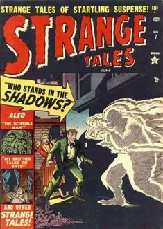 A cover gallery for the comic book Strange Tales Sci Fi Comics, Horror Comics, Horror Art, Scary Comics, Comic 8, Marvel Comic Books, Vintage Comic Books, Vintage Comics, Marvel Masterworks