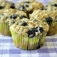 Blueberry Oatmeal Lemon Cheesecake Muffins