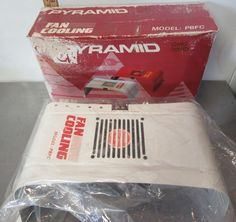 OLD SCHOOL Amp Fan Cooling PYRAMID Gold Series Model PBFC  #Pyramid Online Auto Parts Store, Old School, Fan, Model, Gold, Vintage, Scale Model, Hand Fan