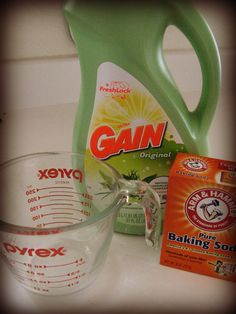 DIY fabric refresher. I want my house to smell like Gain!!