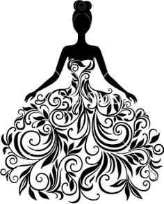 Silhouette Illustrations and Clipart. Silhouette royalty free illustrations, and drawings available to search from thousands of stock vector EPS clip art graphic designers. Silhouette Cameo, Silhouette Projects, Dress Silhouette, Woman Silhouette, Silhouette Vector, Silhouette Pictures, Princess Silhouette, Fairy Silhouette, Flower Silhouette