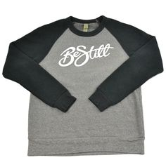 """Color block """"Be Still"""" pullover sweatshirt with our """"Be Still"""" logo, inspired by Exodus 14:14 """"The Lord will fight for you, you need only to BE STILL."""" and Psalm 46:10- """"BE STILL and know that I am God.""""This sweatshirt is made of natural fleece alternative which makes it SUPER soft and comfy AND eco friendly!"""