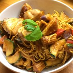 """Peanut butter chicken stir fry with baby corn & egg noodles ready for #leanin15   Don't order a take away tonight. Take aways do exactly that. They take…"""