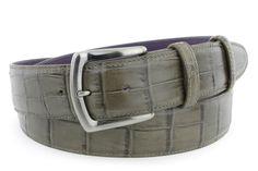 Camouflage mock alligator tail belt, £105.00