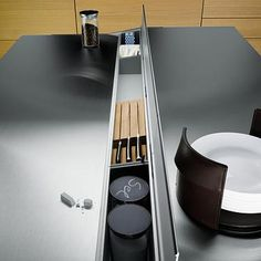 Modern and Futuristic Kitchen Cabinet and Storage