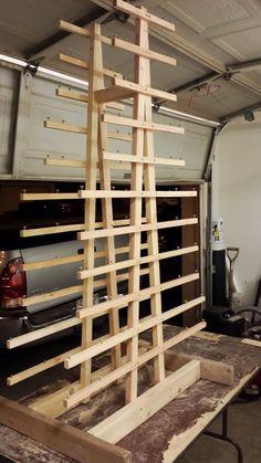 Diy Cabinet Door Drying Rack From Pvc Pipe Amp 2x4 Lumber