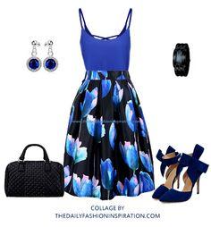 blue tulips ootd