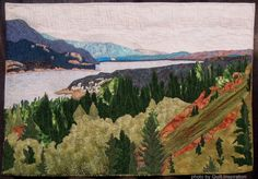Columbia Lake by Judy Weiss (Edmonton, Alberta, Canada).  Photo by Quilt Inspiration